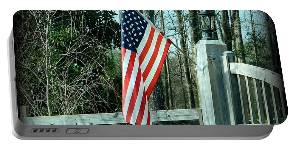 American Portable Battery Charger featuring the photograph Old Glory by Elaine Entrekin