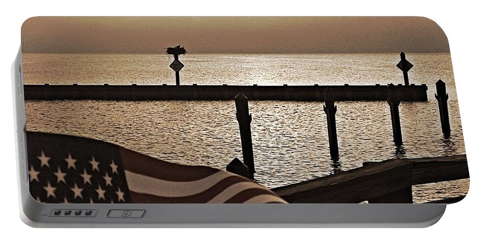 Old Glory Portable Battery Charger featuring the photograph Old Glory by Jacki Taylor