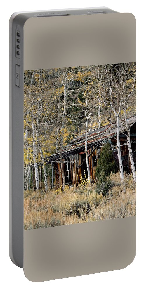 Colorado Portable Battery Charger featuring the photograph Old Homestead by Jim Benest