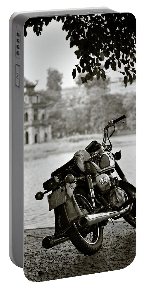 Honda Portable Battery Charger featuring the photograph Old Honda In Hanoi by Dave Bowman