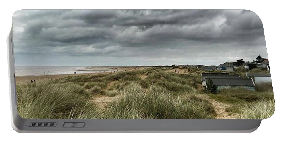 Norfolk Portable Battery Charger featuring the photograph Old Hunstanton Beach, North #norfolk by John Edwards