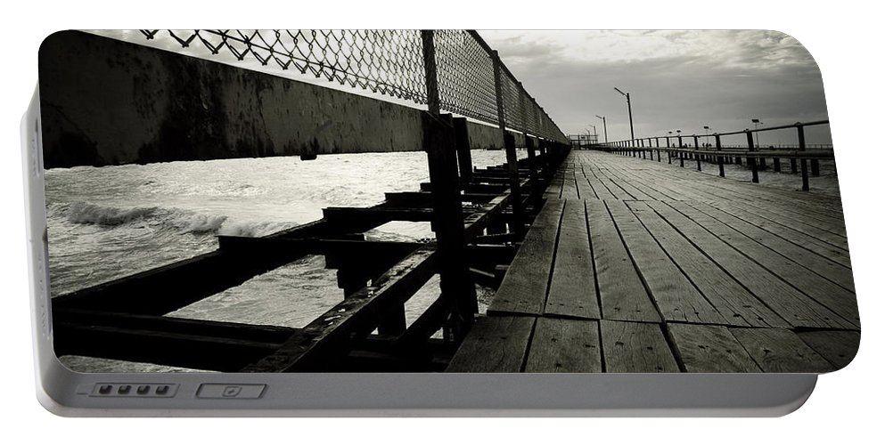 Old Portable Battery Charger featuring the photograph Old Jetty by Kelly Jade King