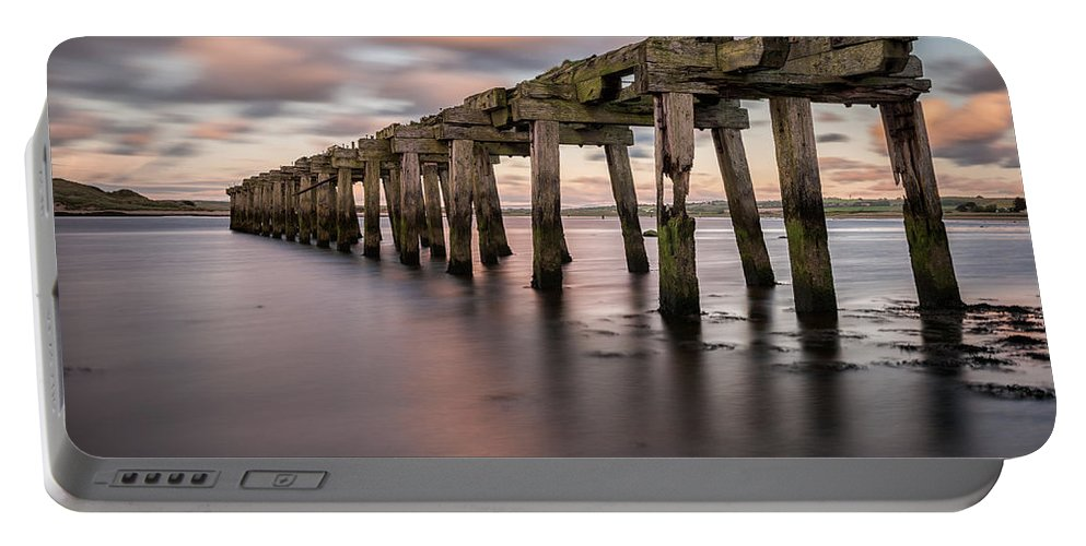 Castlerock Portable Battery Charger featuring the photograph Old Jetty Near Castlerock by Nigel R Bell