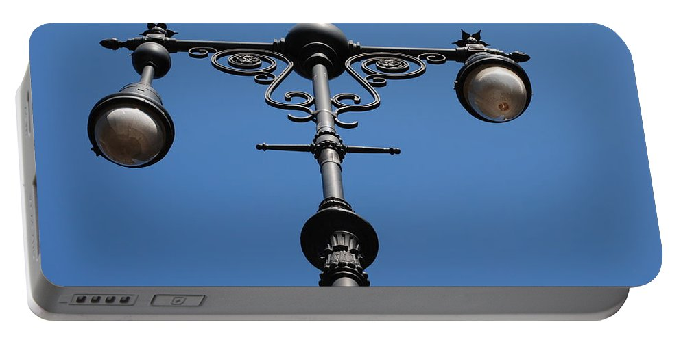Lamppost Portable Battery Charger featuring the photograph Old Lamppost by Rob Hans