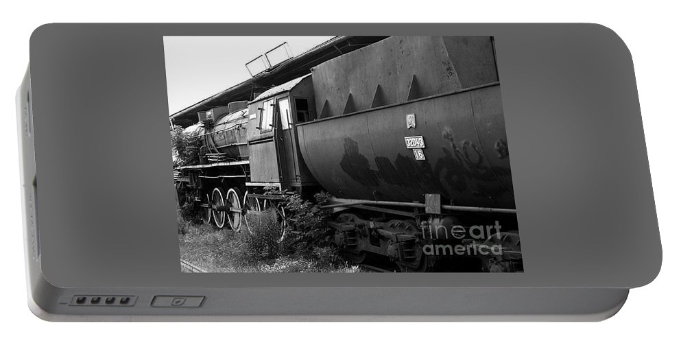 Locomotive Portable Battery Charger featuring the photograph Old Locomotive by Mariusz Wojcik