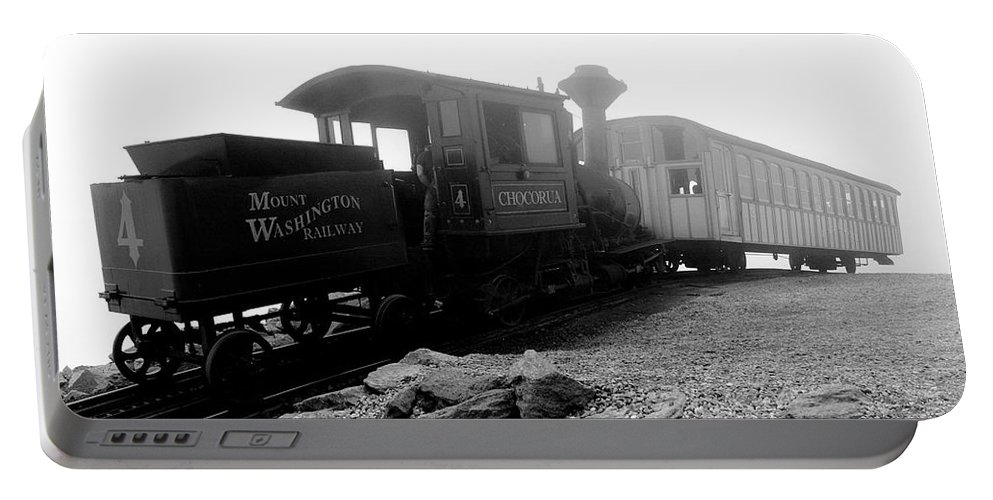 Train Portable Battery Charger featuring the photograph Old Locomotive by Sebastian Musial