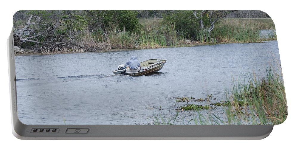 River Portable Battery Charger featuring the photograph Old Man River by Rob Hans