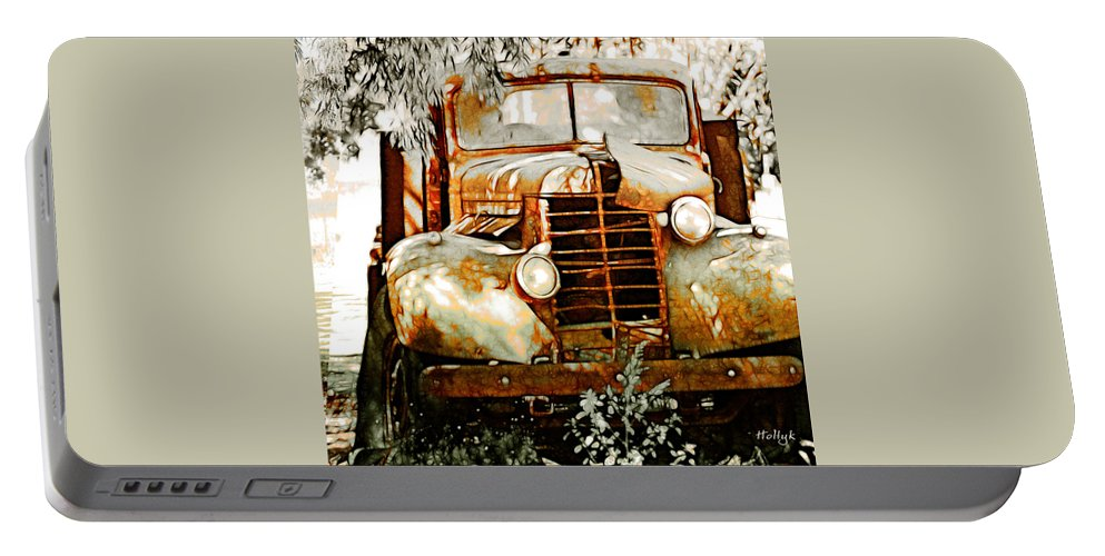 Transportation Portable Battery Charger featuring the photograph Old Memories Never Die by Holly Kempe