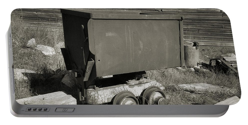 Ore Cart Portable Battery Charger featuring the photograph Old Mining Cart by Richard Rizzo