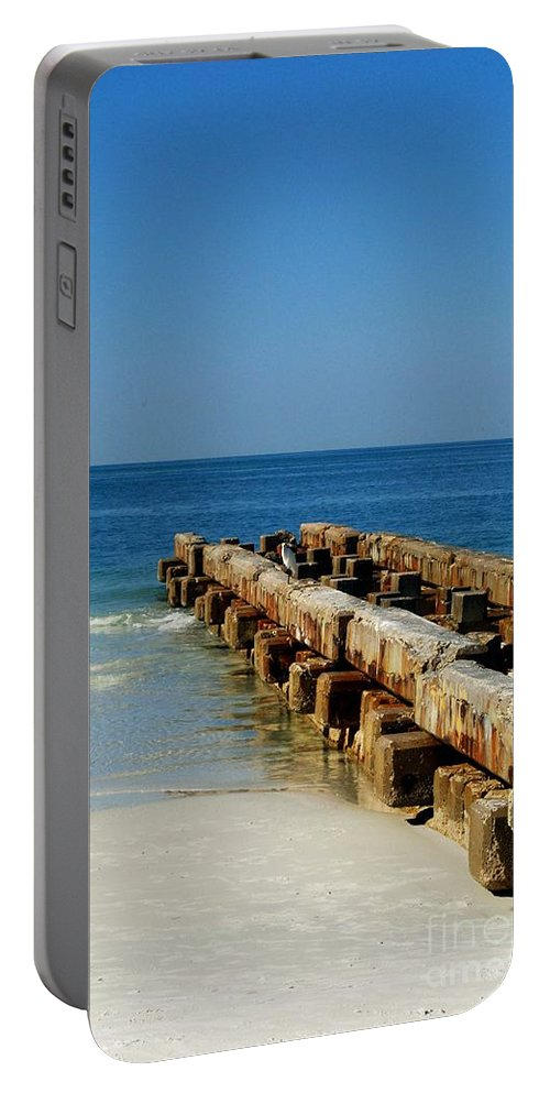 Pier Portable Battery Charger featuring the photograph Old Pier by Gary Wonning
