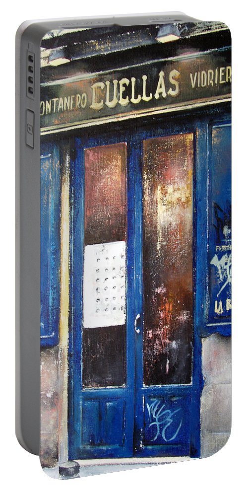Old Portable Battery Charger featuring the painting Old Plumbing-madrid by Tomas Castano