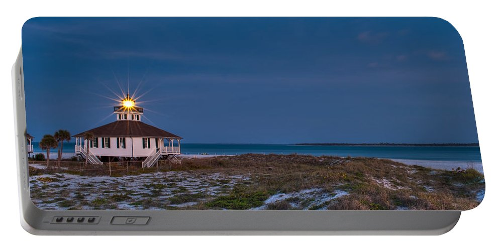 Lighthouse Portable Battery Charger featuring the photograph Old Port Boca Grande Lighthouse by Rich Leighton