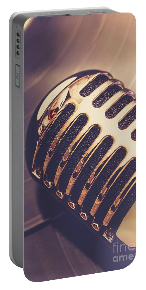 Musical Portable Battery Charger featuring the photograph Old Radio Nostalgia by Jorgo Photography - Wall Art Gallery