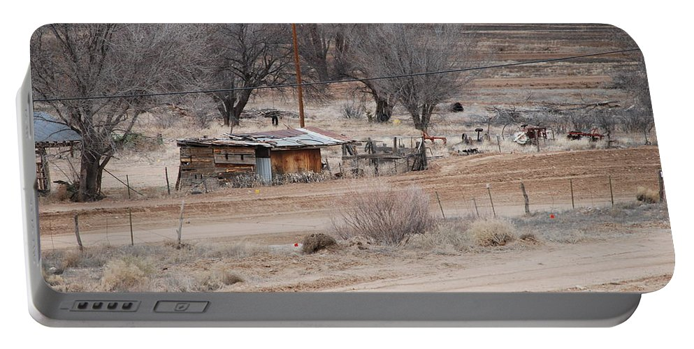House Portable Battery Charger featuring the photograph Old Ranch House by Rob Hans