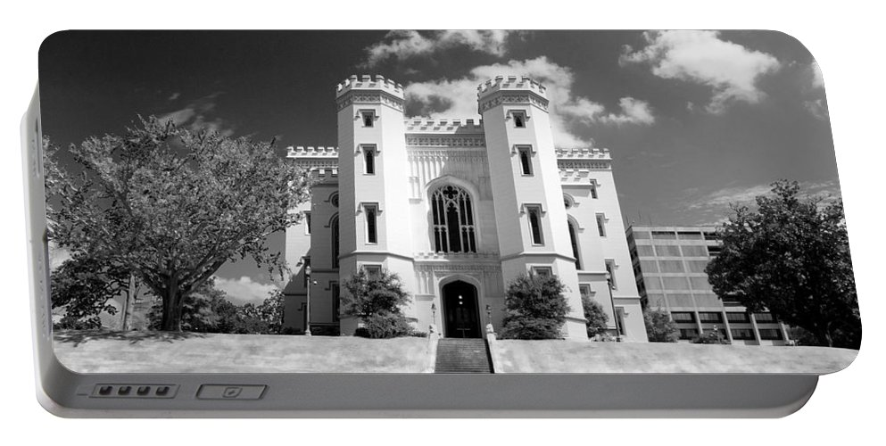 Buildings Portable Battery Charger featuring the photograph Old State Capital - Infared by Scott Pellegrin