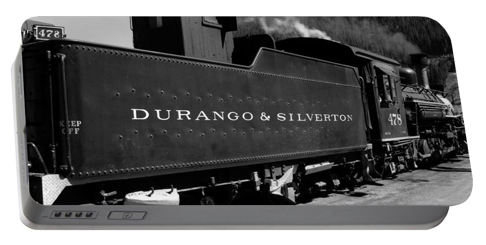Durango And Silverton Portable Battery Charger featuring the photograph Old Steam by David Lee Thompson