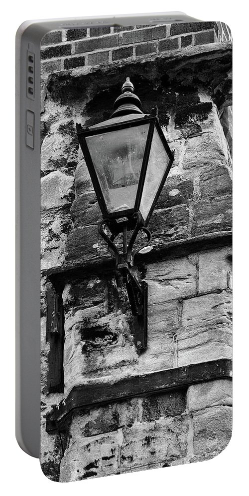 Lamp Portable Battery Charger featuring the photograph Old Street Light by Jeff Townsend