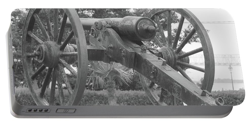 Cannon Portable Battery Charger featuring the photograph Old Time Cannon by Michelle Powell