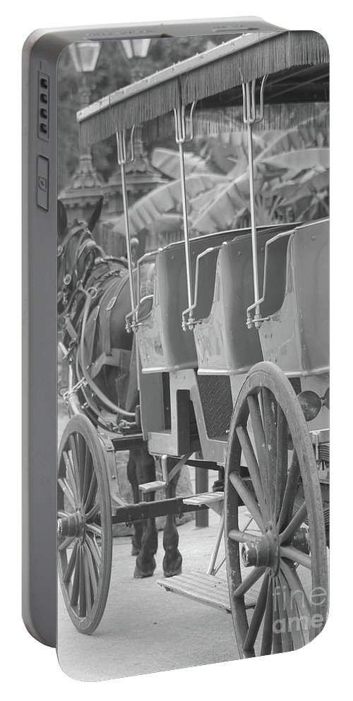 Horse Portable Battery Charger featuring the photograph Old Time Horse And Buggy by Michelle Powell