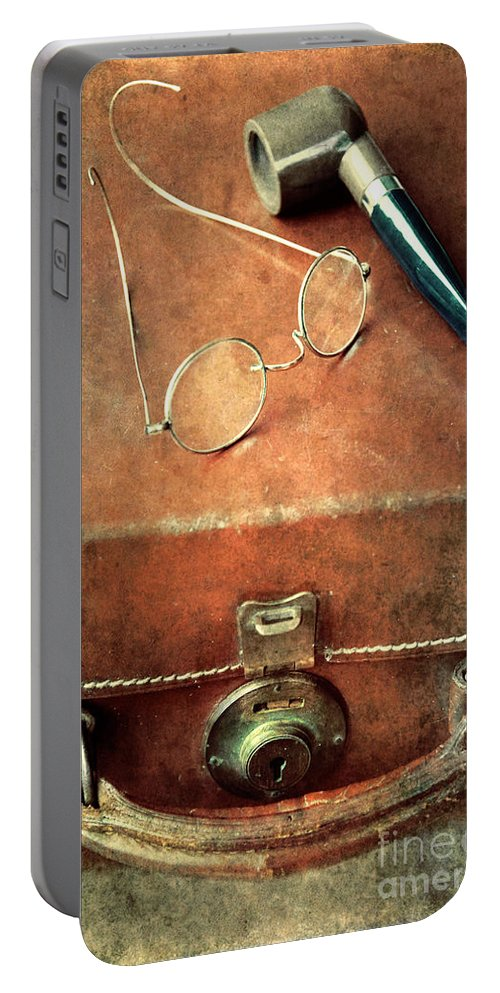 Case Portable Battery Charger featuring the photograph Old Time Travel by Svetlana Sewell