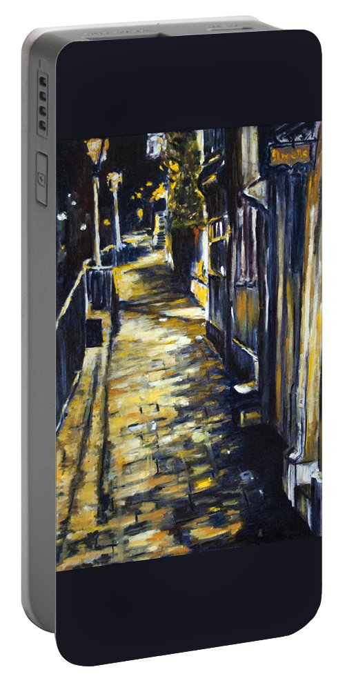 Landscape Portable Battery Charger featuring the painting Old Town Hastings by Pablo de Choros