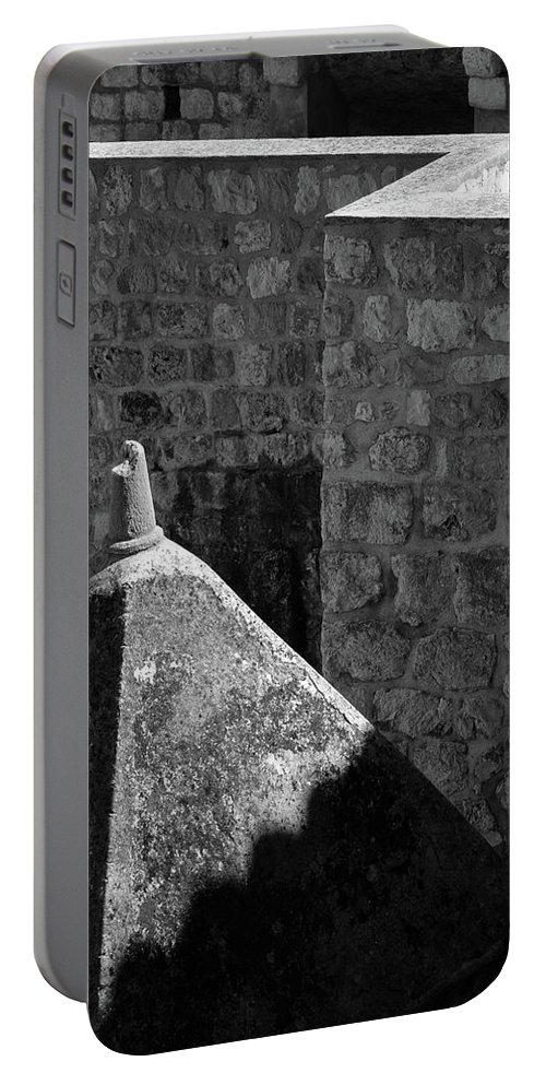 Dubrovnik Portable Battery Charger featuring the photograph Old Town Walls by Dave Bowman