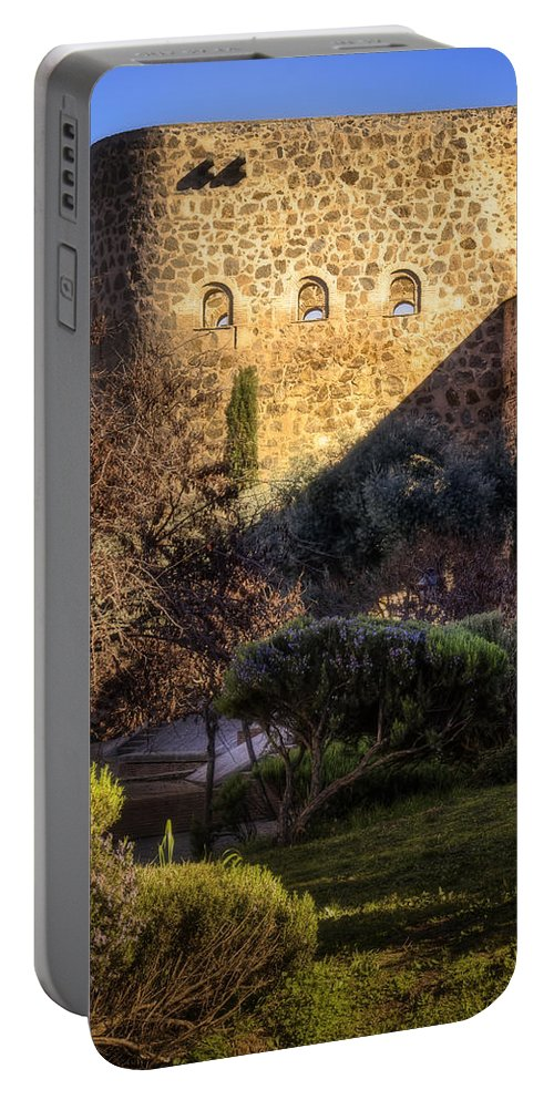 Ancient Portable Battery Charger featuring the photograph Old Town Walls Toledo Spain by Joan Carroll