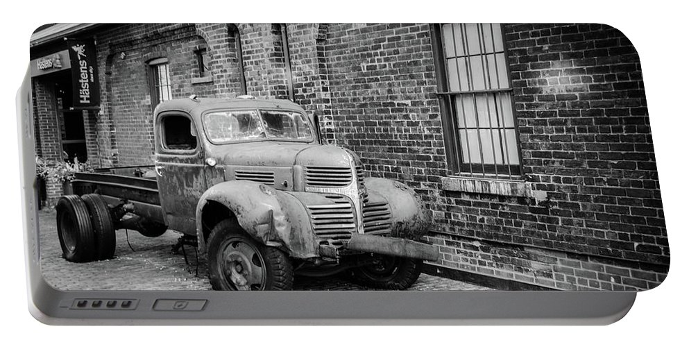 Truck Portable Battery Charger featuring the photograph Old Truck by Ivan Urbina
