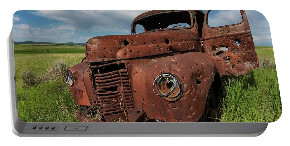 Old Truck Portable Battery Charger featuring the photograph Old Truck by Leland D Howard