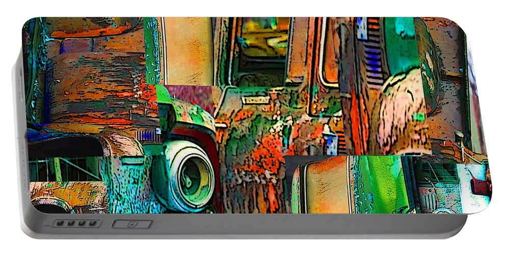 Old Truck Portable Battery Charger featuring the photograph Old Trucks by Robert Meanor