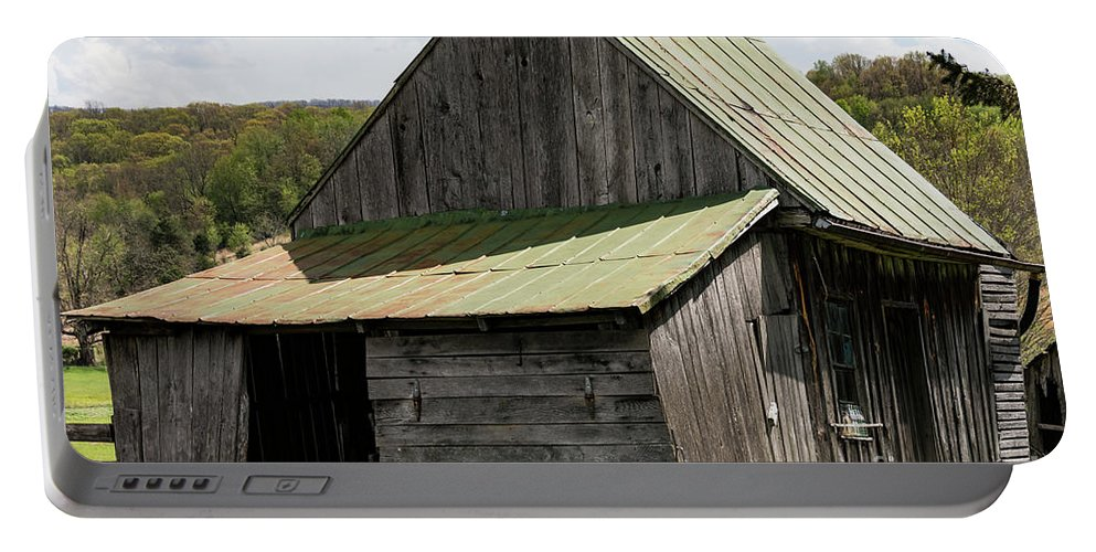 New Castle Virginia Barn Barns Structure Structures Building Buildings Architecture Door Doors Portable Battery Charger featuring the photograph Old Virginia Barn by Bob Phillips