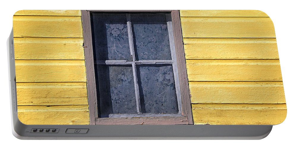 Old Window Portable Battery Charger featuring the photograph Old Window by Jon Burch Photography
