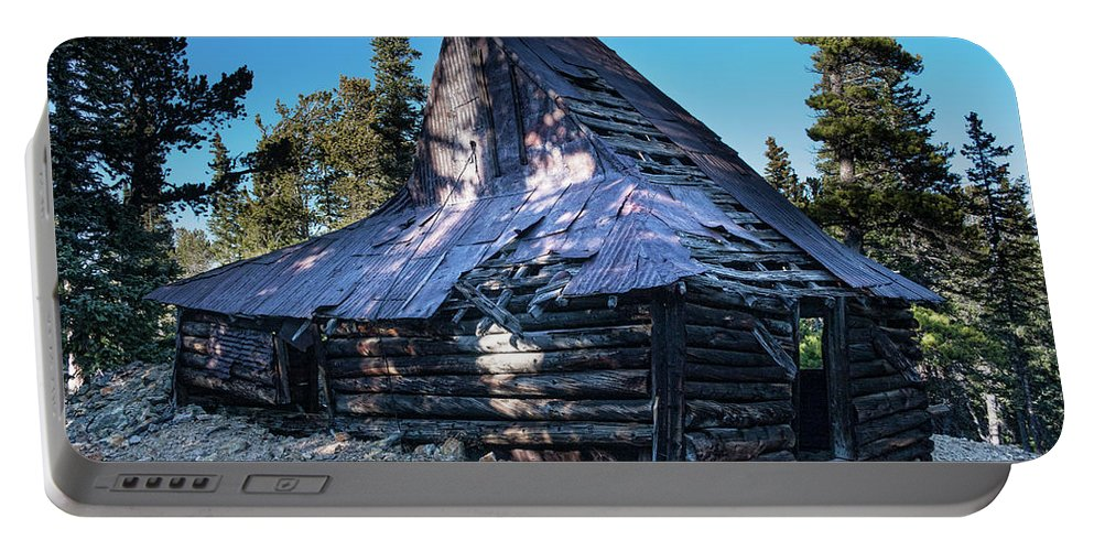 Rustic Portable Battery Charger featuring the photograph Old Witch Hat Gold Mine by James BO Insogna