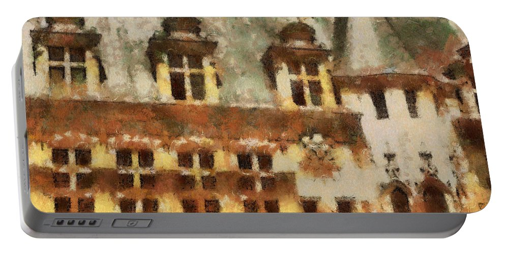 France Portable Battery Charger featuring the painting Old World by Paulette B Wright