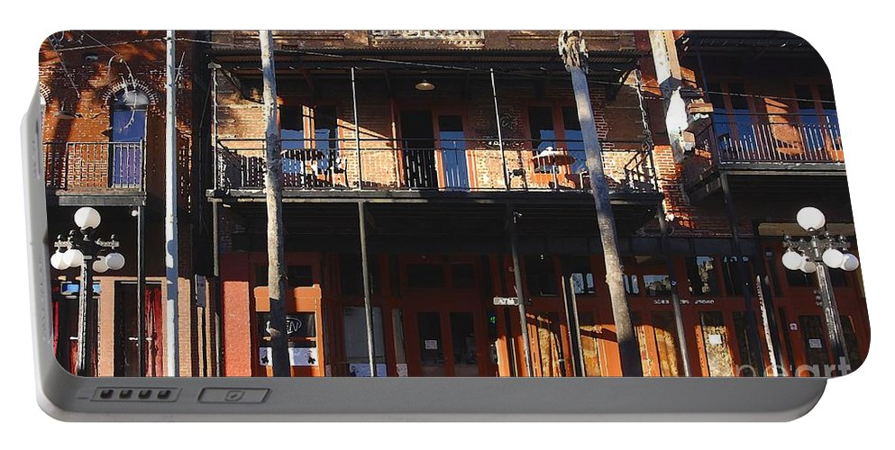 Ybor City Florida Portable Battery Charger featuring the photograph Old Ybor by David Lee Thompson