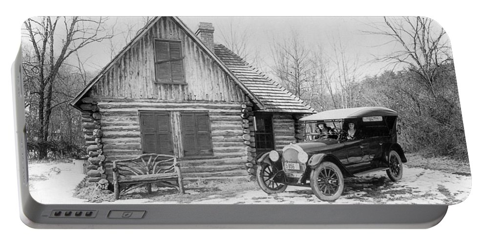 1920 Portable Battery Charger featuring the painting Oldsmobile Ad, 1920 by Granger