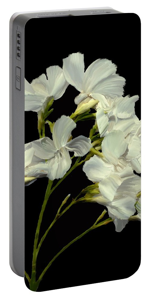 Flowers Portable Battery Charger featuring the photograph Oleander by Kurt Van Wagner