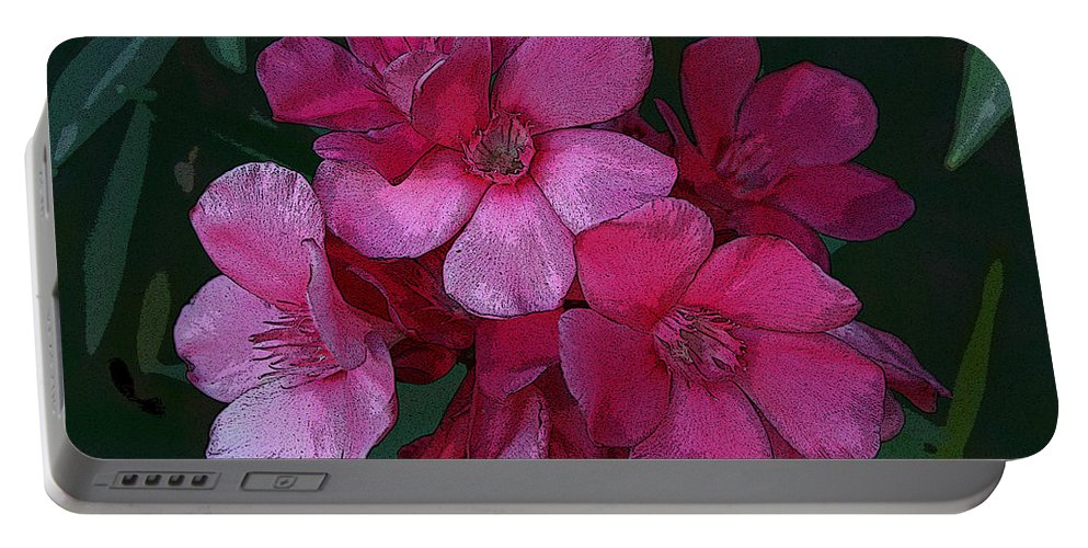 Digital Portable Battery Charger featuring the photograph Oleanders In Pink by Marna Edwards Flavell