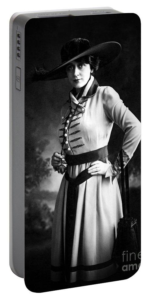 Olga Petrova Portable Battery Charger featuring the photograph Olga Petrova by Sad Hill - Bizarre Los Angeles Archive