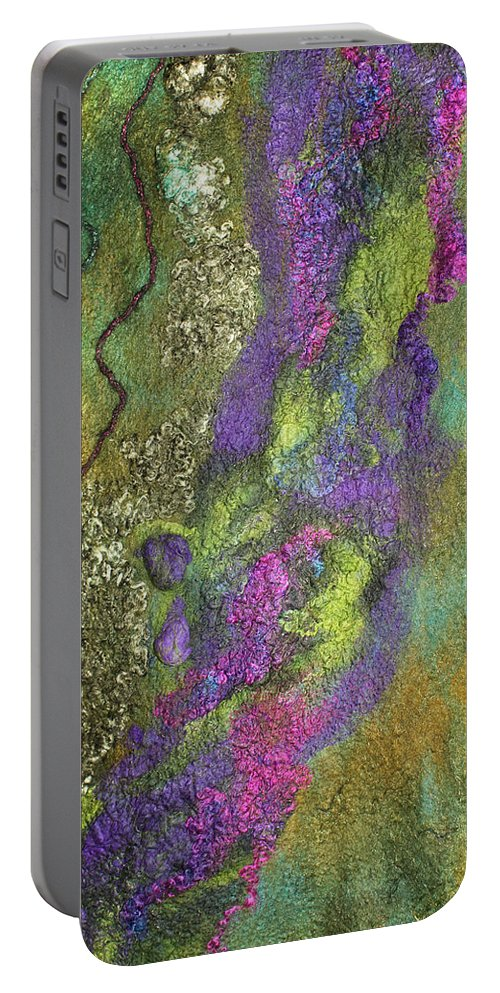 Russian Artists New Wave Portable Battery Charger featuring the photograph Olive Garden With Lavender by Marina Shkolnik