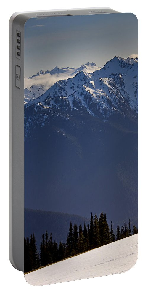 Olympic Mountains Portable Battery Charger featuring the photograph Olympic National Park by Albert Seger