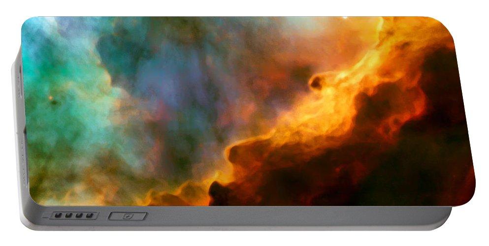 Nebula Portable Battery Charger featuring the photograph Omega Swan Nebula 3 by Jennifer Rondinelli Reilly - Fine Art Photography