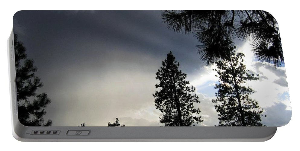 Sky Portable Battery Charger featuring the photograph Ominous Sky by Will Borden