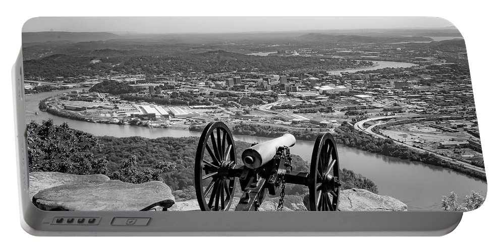 Point Park Portable Battery Charger featuring the photograph On Guard At Point Park Lookout Mountain In Tennessee by Pete Wardrope