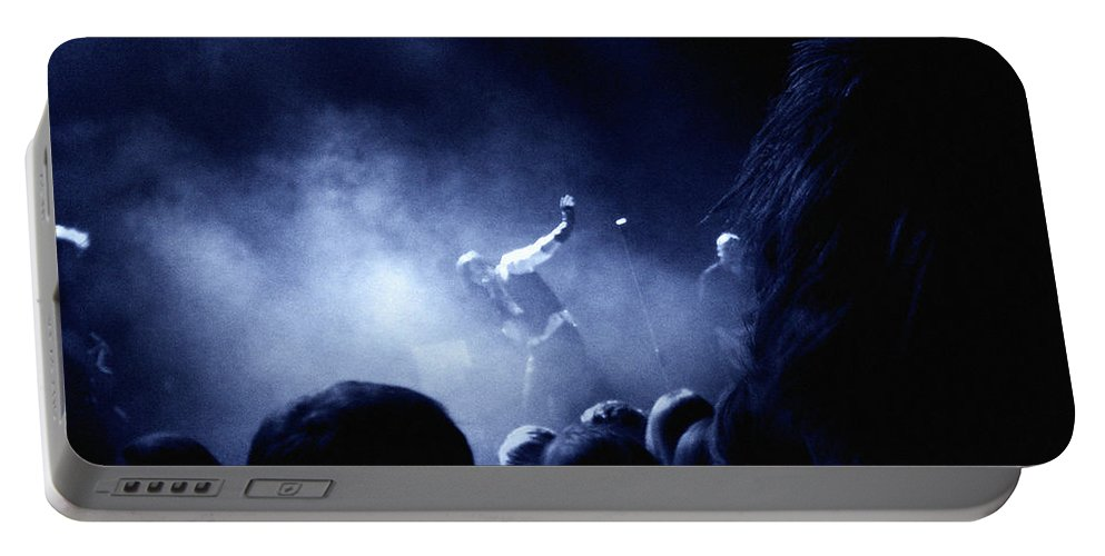 Rock Portable Battery Charger featuring the photograph On Stage by Are Lund