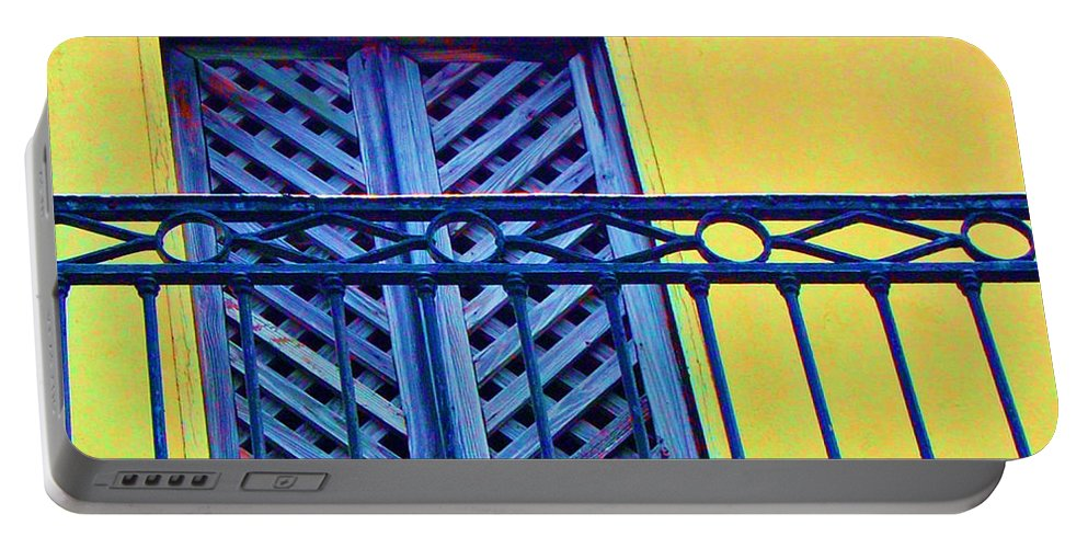 Balcony Portable Battery Charger featuring the photograph On The Balcony by Debbi Granruth