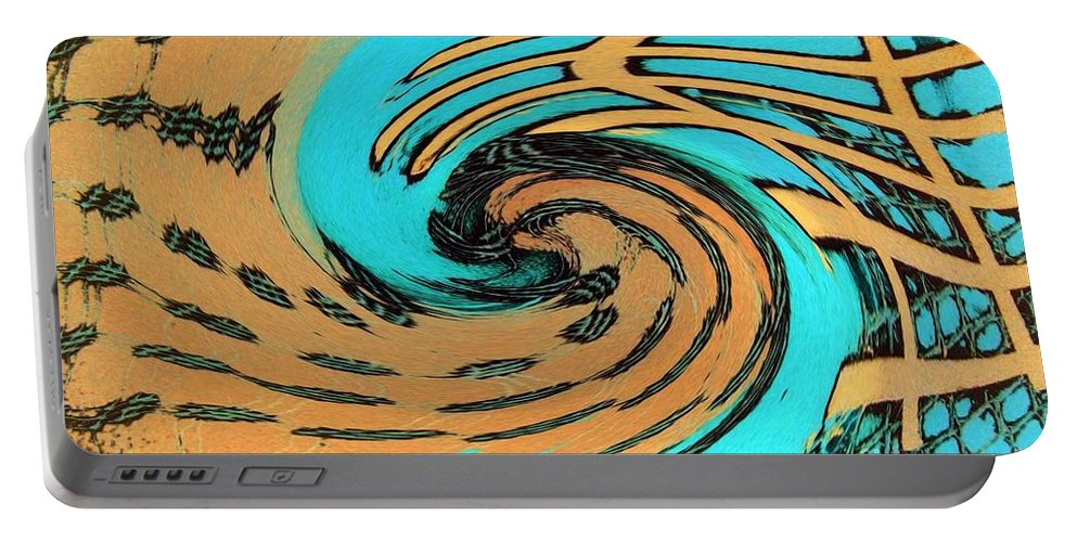 On The Edge Portable Battery Charger featuring the painting On The Edge by Dawn Hough Sebaugh