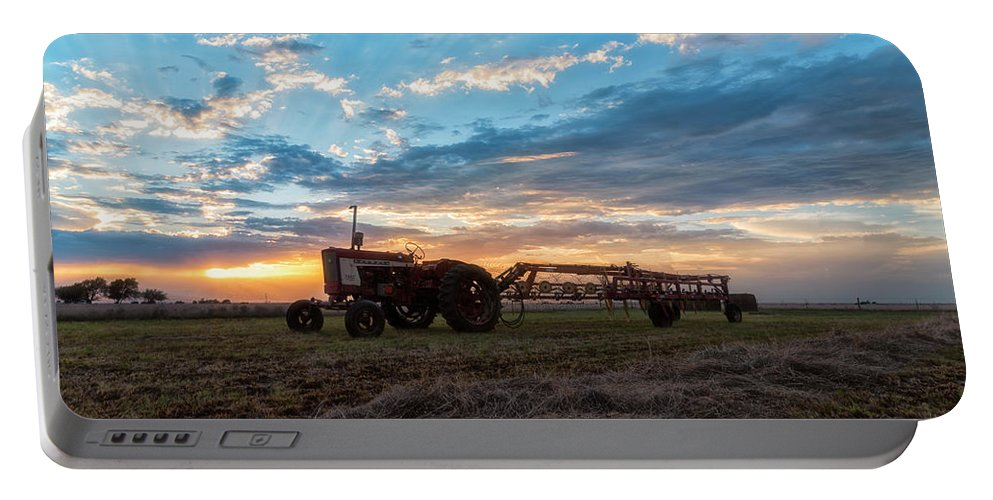 Farmall Tractors Portable Battery Charger featuring the photograph On The Farm by Russell Pugh