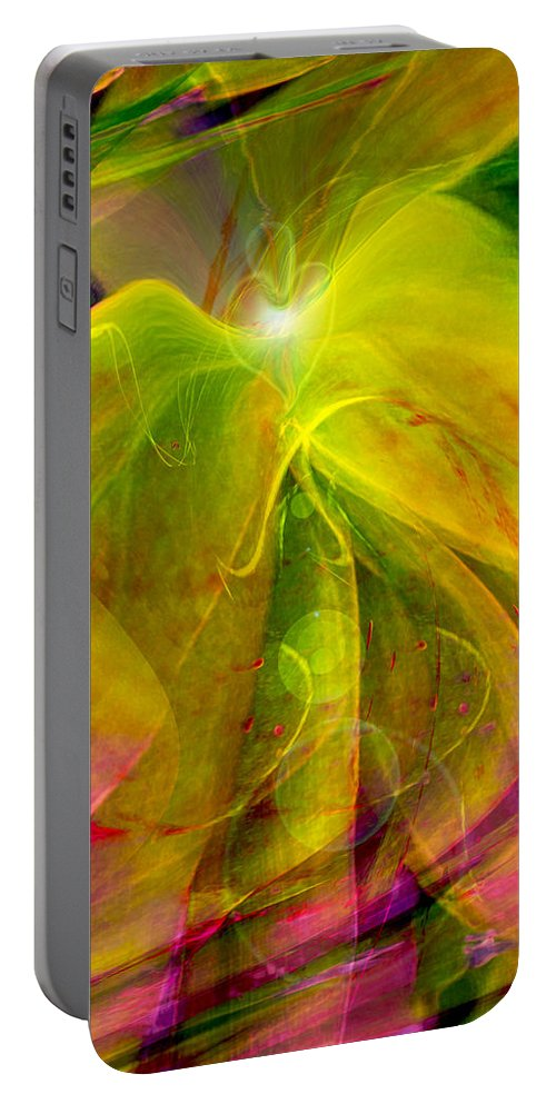 Heart Art Portable Battery Charger featuring the digital art On The Horizon by Linda Sannuti