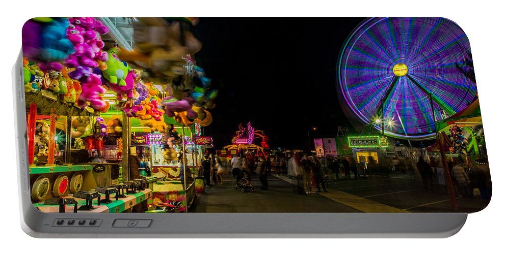 Alien Ship Portable Battery Charger featuring the photograph On The Midway by Michele James
